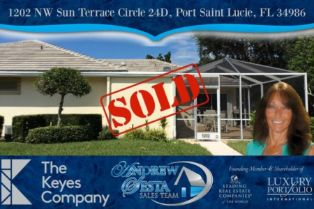 Another Port Saint Lucie Home Under Contract Sun Terrace