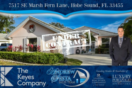 Another Hobe Sound Florida Home Under Contract