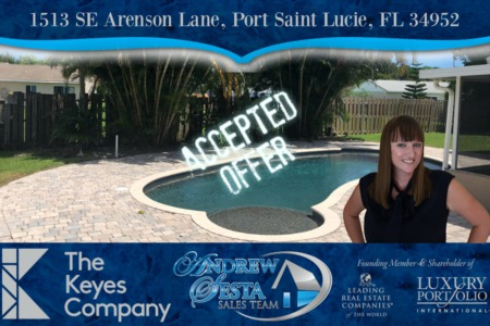 Another Port St Lucie Pool Home Under Contract