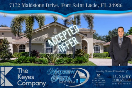 Another PGA Village Home Under Contract