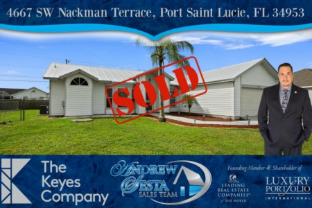 Andrew Sesta Sells Another Port Saint Lucie Home