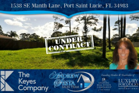 Another Port St Lucie Lot Under Contract in 48 Hours