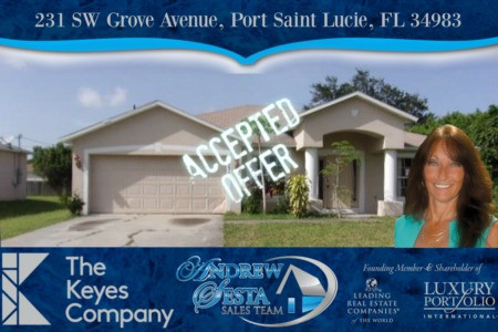 Another Port Saint Lucie Florida Home Under Contract