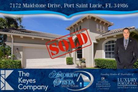 Another PGA Village Home Sold And Closed