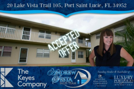 Another Vista St Lucie Condo Under Contract