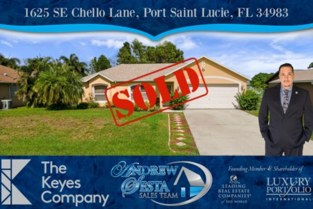Port St Lucie Home Sold and Closed