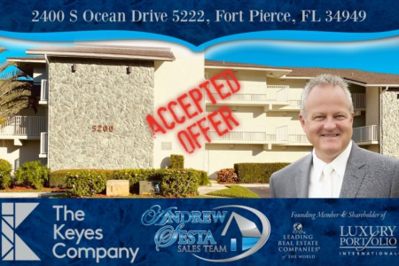 Another Ocean Village Hutchinson Island Condo Under Contract