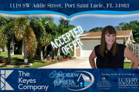 Another Port Saint Lucie Florida Home Under Contract 1119 SW Addie St