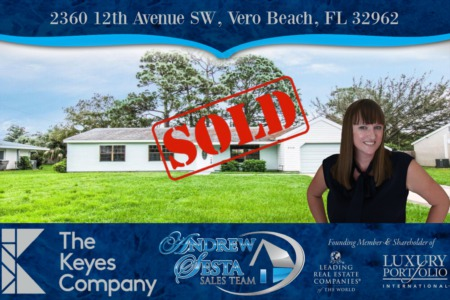 Another Vero Beach Florida Home Sold And Closed