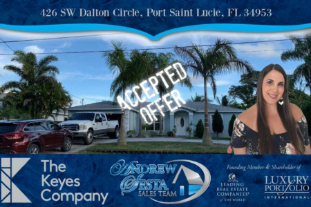 Jacqui Puts Another Port Saint Lucie Home Under Contract