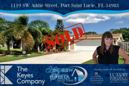 Port Saint Lucie Home Sold And Closed on Addie St