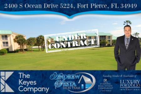 Another Ocean Village Hutchinson Island Condo Under Contract 5224