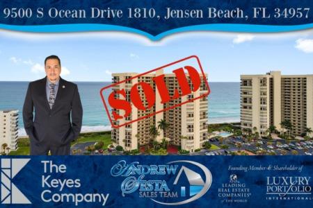Sesta Sells Another Jensen Beach Oceanfront Condo