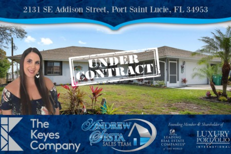 Another Port St Lucie Home Under Contract Addison