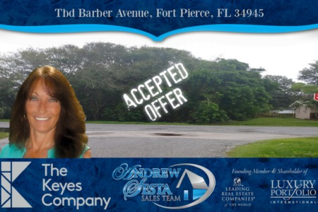 Another Fort Pierce Lot Under Contract Barbra Ave