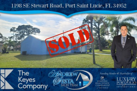 Another Port Saint Lucie Home Sold 1198 SE Stewart