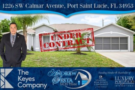 Another Port Saint Lucie Florida Home Under Contract 1226 SW Calmar