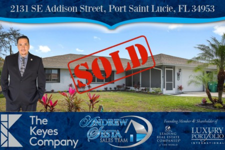 Another Port Saint Lucie Florida Home Sold & Closed -Addison St