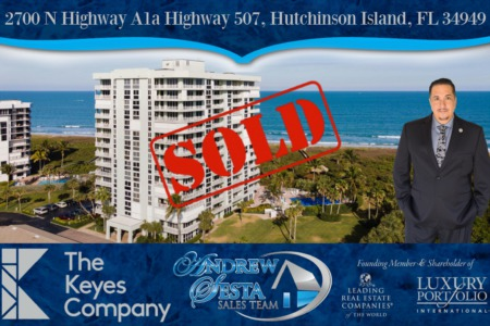 Another Oceanfront Condo Sold and Closed on Hutchinson Island