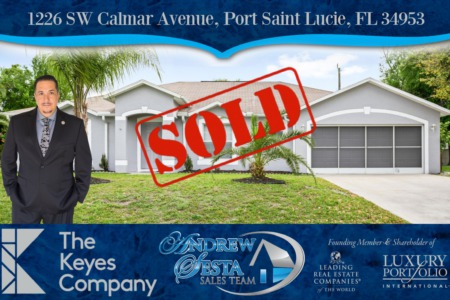 Antother Port Saint Lucie Home Sold And Closed- Realtor Andrew Sesta