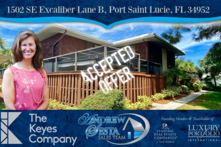 Another Port Saint Lucie Townhouse Under Contract