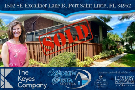 Another Port St Lucie Townhome Sold and Closed