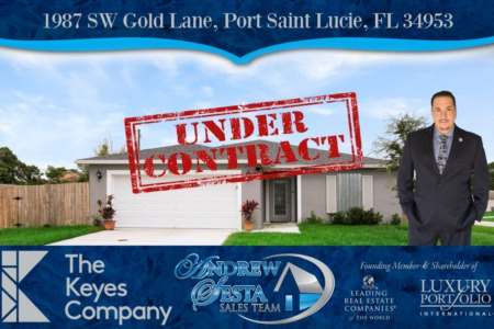 Another Port St Lucie Lot Under Contract in 48 Hours Gold Lane