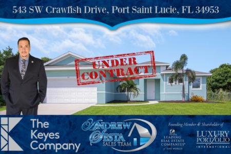 Another Port St Lucie Home Under Contract Crawfish Drive
