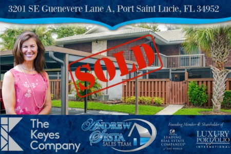 Another Port St Lucie Townhome Sold and Closed 3201 SE Guenevere