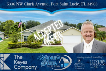 Another Port Saint Lucie Florida Home Under Contract 5336 NW Clark