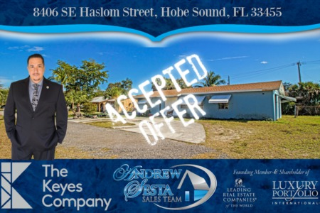 Another Hobe sound Home Under Contract