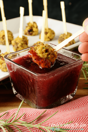 DIY, LatestSausage And Stuffing Balls With Cranberry Dipping Sauce. The Perfect Thanksgiving Appetizer