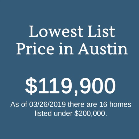 Quirky MLS Stats: Lowest List Price in Austin