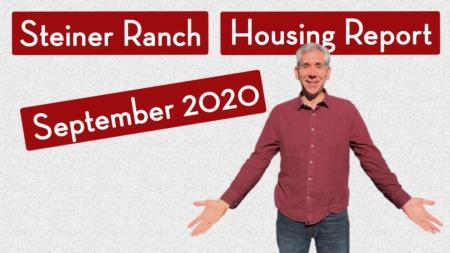 Steiner Ranch Housing Report - September 2020