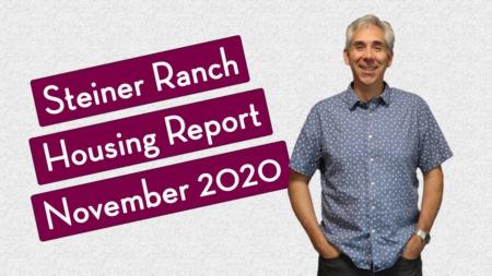 Steiner Ranch Housing Report - November 2020