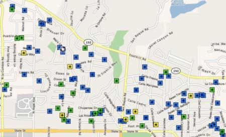 Santa Barbara Real Estate Home Sales Statistics - San Roque Neighborhood Year End 2009