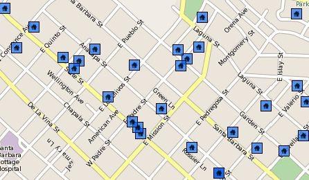 Santa Barbara CA Real Estate - The Upper East Neighborhood Sales Statistics Year End 2008