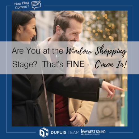 Are You at the Window Shopping Stage?  That's Fine - C'mon In!