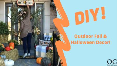 DIY: Outdoor Fall & Halloween Decor!