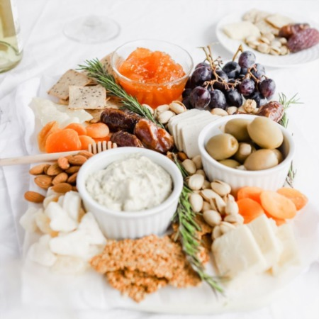 Healthy Charcuterie Board for Fall