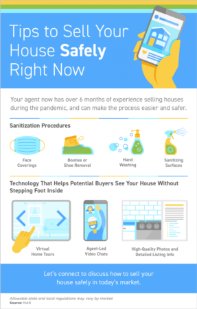 Tips to Sell Your House Safely Right Now [INFOGRAPHIC]