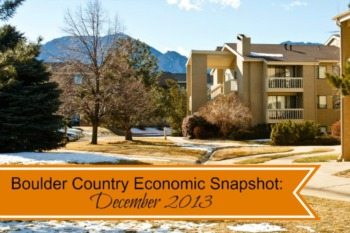 Boulder County Real Estate Stats December 2013