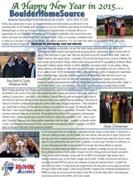 Season's Greetings From BoulderHomeSource 2014/2015