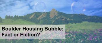 Boulder Real Estate Housing Bubble: Buy Now or Wait?