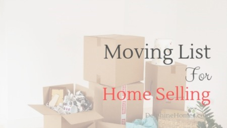 Moving List For Home Selling