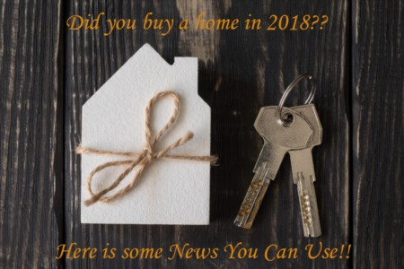 Did you buy a new home in 2018??