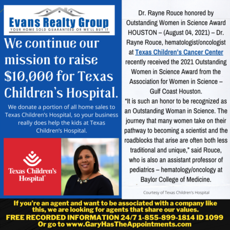 Worthy Cause Wednesday - Dr. Rayne Rouce honored by Outstanding Women in Science Award