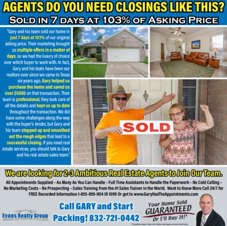 AGENTS, DO YOU NEED CLOSINGS LIKE THIS?
