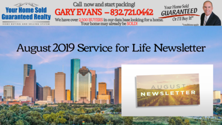 Katy Real Estate - Gary Evans - August Newsletter