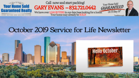 Katy Real Estate - Gary Evans - October Newsletter